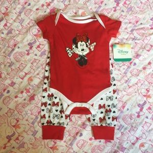 Minnie Mouse Onesie and pants